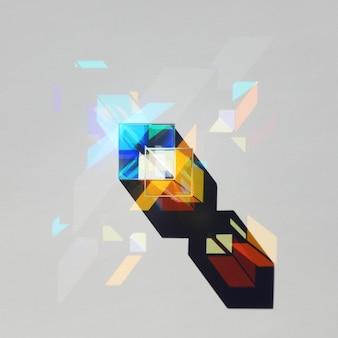 Abstrakcyjna figura geometryczna ze światła i cienia