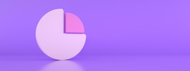 Abstrakcyjna grafika wykresu kołowego do projektowania biznesowego, renderowania 3d, makieta panoramiczna z miejscem na tekst