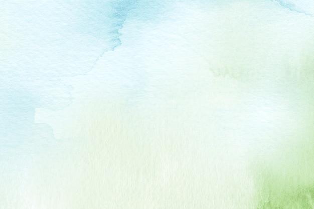 Abstrakcyjna ilustracja tła w akwareli w kolorze niebieskim i zielonym