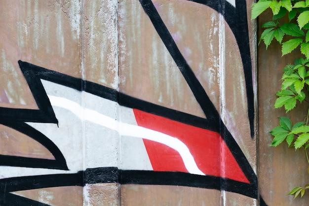 Abstrakcyjna kompozycja graffiti z muralu