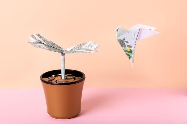 Abstrakcyjna kompozycja martwej natury finansowej wolności