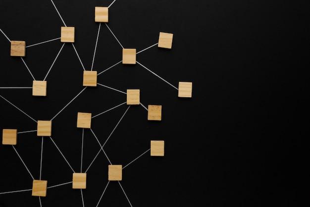 Abstrakcyjna koncepcja sieciowa asortyment martwej natury