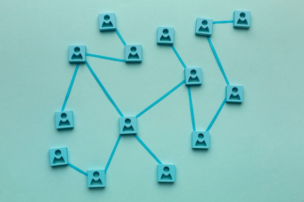 Abstrakcyjna koncepcja sieciowa martwa kompozycja