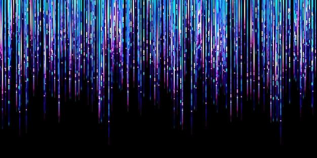 Abstrakcyjna linia świetlna blask niebieska linia led ruch technologia tło ilustracja 3d