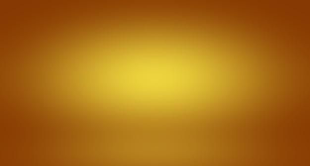 Abstrakcyjna, luksusowa, złota, żółta gradientowa ściana studyjna, dobrze wykorzystana jako tłolayoutbanner i pres...