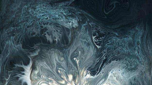 Abstrakcyjna niebieska grunge wzorzysta akwarela ilustracja tła