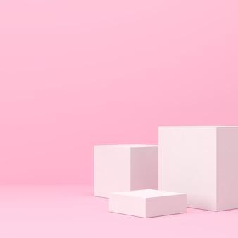 Abstrakcyjna scena tła do renderowania 3d produktu