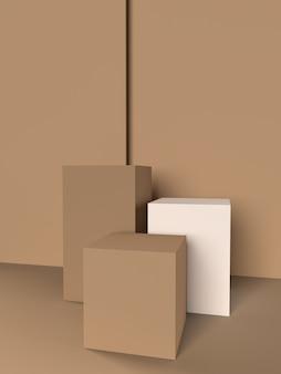 Abstrakcyjne kształty geometryczne 3d nowoczesny wyświetlacz tła