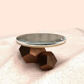 Abstrakcyjne kształty geometryczne 3d nowoczesny wyświetlacz