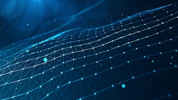 Abstrakcyjne kształty geometryczne splotu niebieskiego.