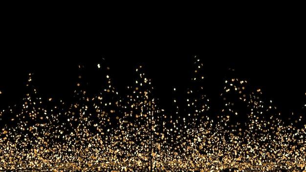 Abstrakcyjne kształty ze złotym brokatem
