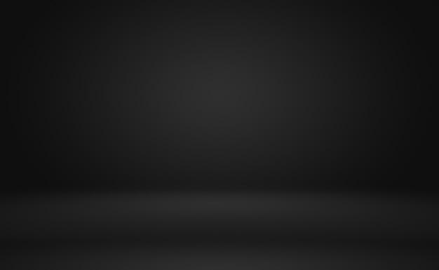 Abstrakcyjne luksusowe rozmycie ciemnoszary i czarny gradient, używane jako ściana studyjna do wyświetlania produktów.