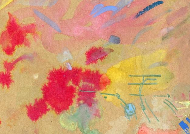Abstrakcyjne malarstwo akwarelowe