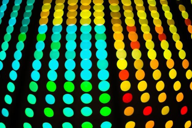 Abstrakcyjne oświetlenie led bokeh cyfrowe tło przydatne do świętowania festiwalu lub dj edm muzyka taneczna f
