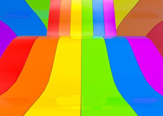 Abstrakcyjne panele rainbow lub kolorowe lgbt