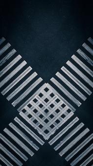 Abstrakcyjne pasy skrzyżowania dwóch przejść dla pieszych na skrzyżowaniu w mieście widok z góry z lotu...