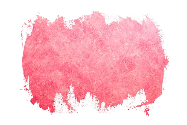 Abstrakcyjne pociągnięcia pędzlem kolor różowy. zaprojektowany grunge na fakturze ściany. pomaluj czarne obrysy pędzlem obrysuj kolor tekstury z miejscem na własny tekst
