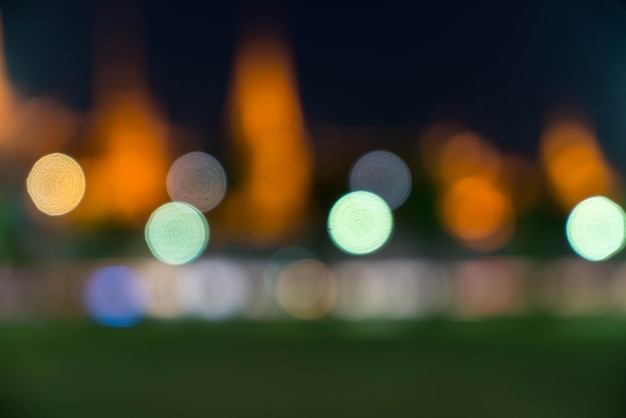 Abstrakcyjne rozmycie bokeh światła
