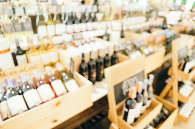 Abstrakcyjne rozmycie i defocused wina sklepu