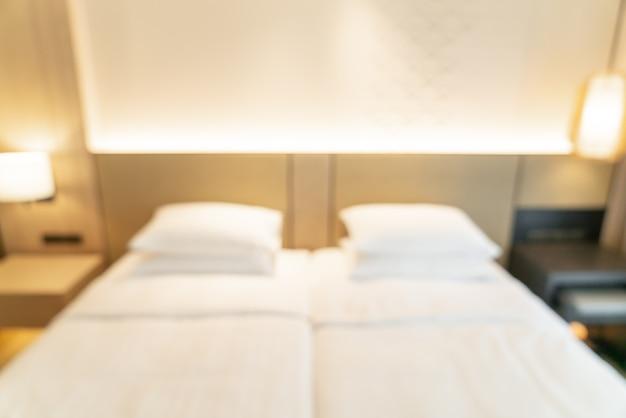 Abstrakcyjne rozmycie i niewyraźne sypialnia ośrodek hotelowy na tle