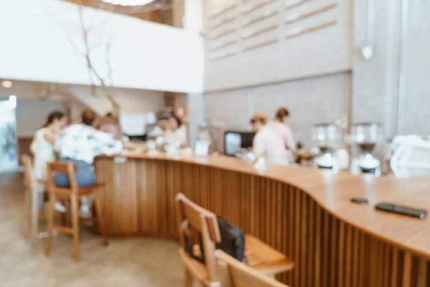 Abstrakcyjne rozmycie kawiarnia kawiarnia i restauracja na tle