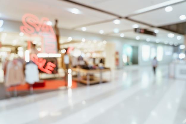 Abstrakcyjne rozmycie luksusowe centrum handlowe i sklep detaliczny