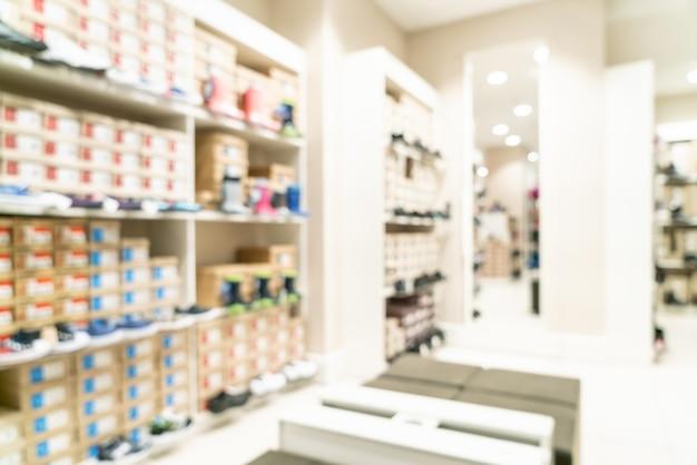 Abstrakcyjne rozmycie w centrum handlowym i sklepie