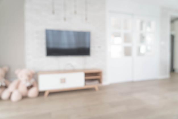 Abstrakcyjne rozmycie w salonie