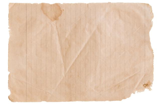 Abstrakcyjne stare tekstury papieru na białym tle