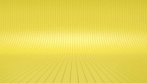 Abstrakcyjne studio żółte tło 3d