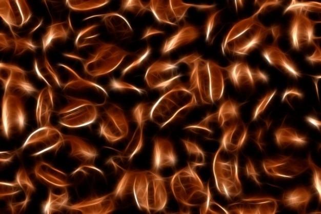 Abstrakcyjne tekstury ziaren kawy