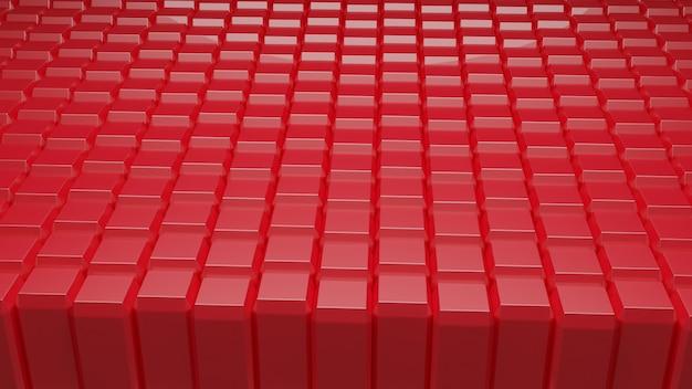 Abstrakcyjne tło czerwone kostki blokują 3d redering