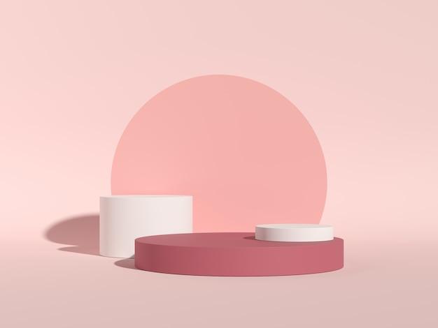 Abstrakcyjne tło, do wyświetlania produktów. renderowanie 3d