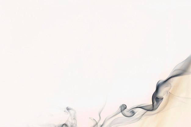 Abstrakcyjne tło dymu, biała tekstura obramowania filmowy projekt