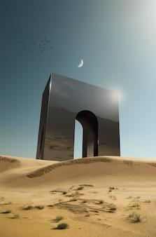 Abstrakcyjne tło krajobrazu fantasy