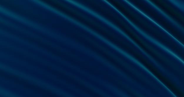 Abstrakcyjne tło luksusowe niebieskie tkaniny, tkaniny jedwabne lub satynowe, niebieskie tkaniny