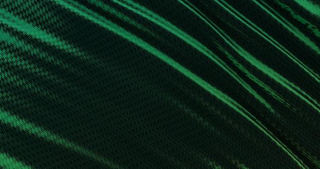 Abstrakcyjne tło luksusowe zielone tkaniny, fale jedwabne lub satynowe tkaniny, zielone tkaniny