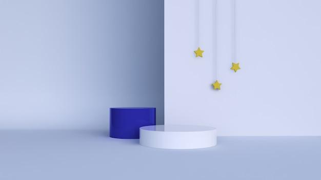 Abstrakcyjne tło, makieta sceny z podium do wyświetlania produktów. renderowanie 3d
