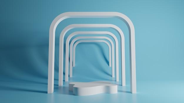 Abstrakcyjne tło. prymitywne kształty geometryczne. renderowania 3d.