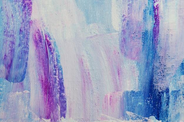 Abstrakcyjne tło ręcznie rysowane malarstwo akrylowe. pociągnięcia pędzlem kolorowa farba akrylowa
