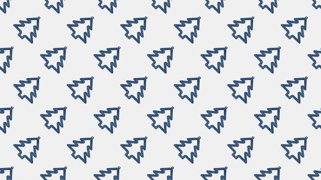 Abstrakcyjne tło wielu niebieskich choinek na białym