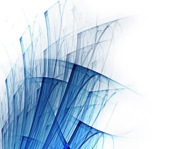 Abstrakcyjne tło z niebieskimi liniami na białym papierze
