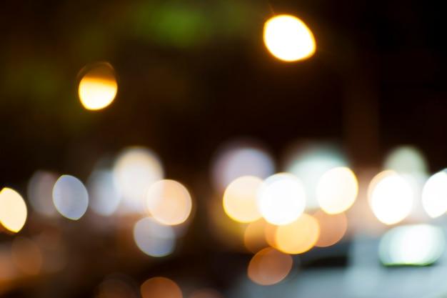 Abstrakcyjne tło z nieostrymi światłami bokeh