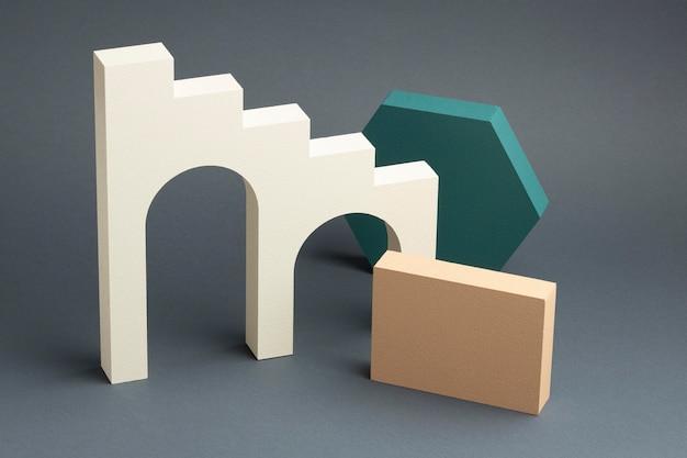 Abstrakcyjny asortyment elementów projektu 3d