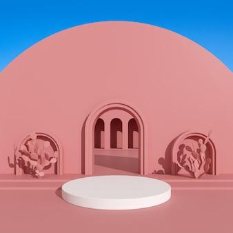 Abstrakcyjny budynek architektoniczny do prezentacji produktu