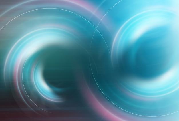 Abstrakcyjny efekt okrągłych świecących świateł