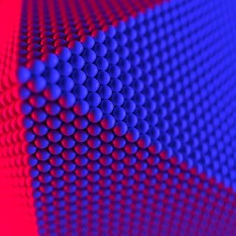 Abstrakcyjny kształt geometryczny wykonany z renderowania sfer