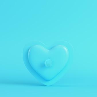 Abstrakcyjny kształt serca na jasnoniebieskim w pastelowych kolorach