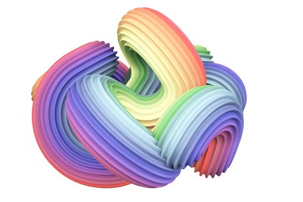 Abstrakcyjny kształt tęczy. renderowania 3d.
