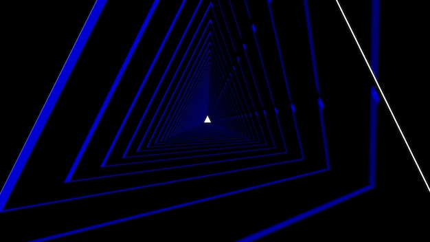 Abstrakcyjny kształt trójkąta w czarnym tle